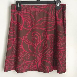 Athleta Brown Pink Short Athletic Skirt
